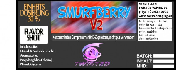 Twisted Aroma Smurfberry V2 FlavorShot