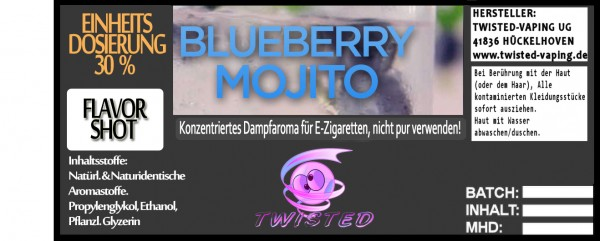 Twisted Aroma Blueberry Mojito FlavorShot 5ml