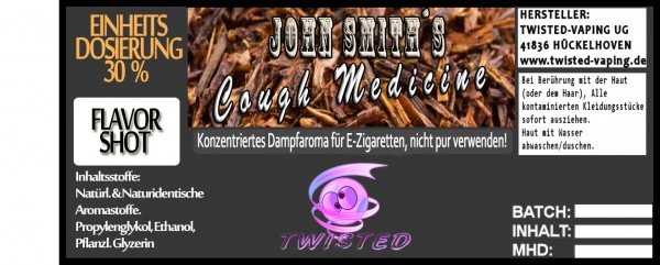 John Smith´s Blended Tobacco Flavor Chaikowski´s Cough Medicine FlavorShot