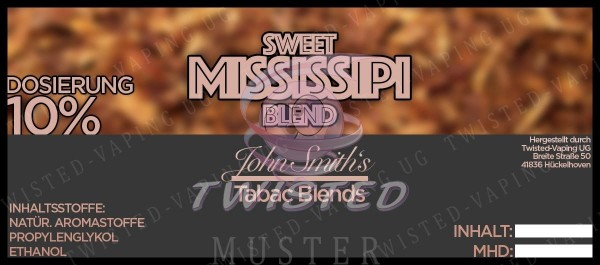 John Smith´s Blended Tobacco Flavor Sweet Mississipi 10 ml