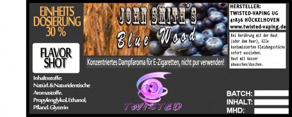 John Smith´s Blended Tobacco Flavor Blue Wood FlavorShot 10ml  Eventuell nahes oder überschrittenes