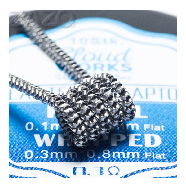 Cloudworks Flat Tsuka Clapton Coil Kanthal 0,3 Ohm 10er Pack
