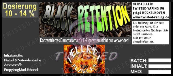 Hellride Black Retention 10ml