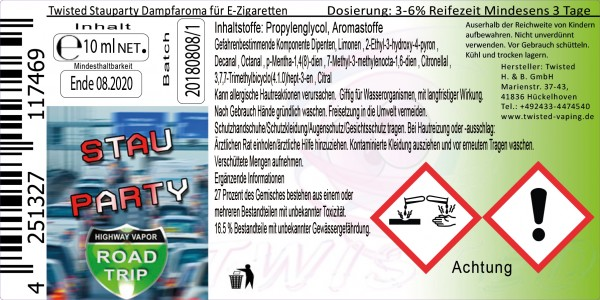 Road Trip Aroma Stauparty 10ml