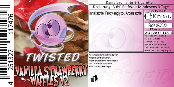 Twisted Aroma Vanilla Strawberry Waffles V2 10ml