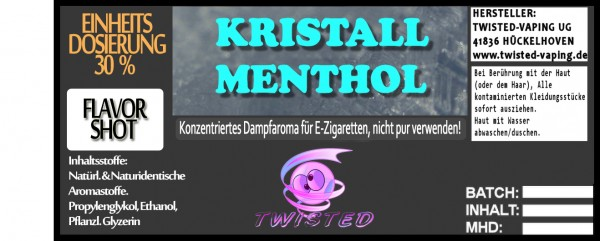 Twisted Aroma Kristall Menthol FlavorShot 5ml  Eventuell nahes oder überschrittenes Haltbarkeitsdatu