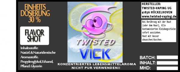 Twisted Aroma Vick FlavorShot