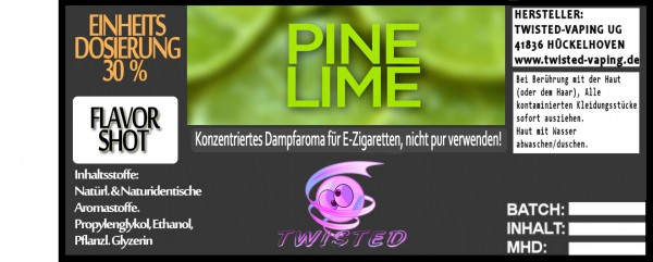 Twisted Aroma Pine Lime FlavorShot