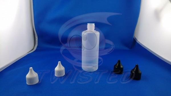 LDPE-Tropferflasche 100 ml Flasche Natur Deckel Weiß
