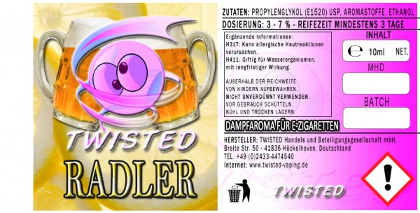 Twisted Aroma Radler 10ml