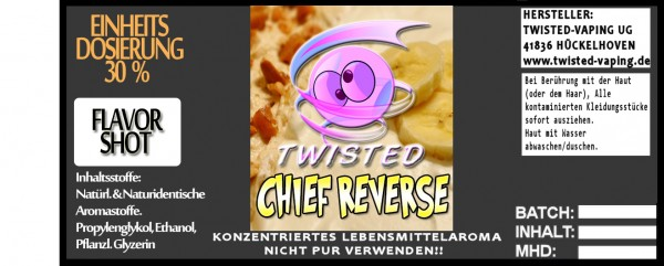 Twisted Aroma Chief Reverse FlavorShot 10ml