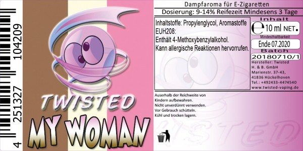 Twisted Aroma My Woman 10ml