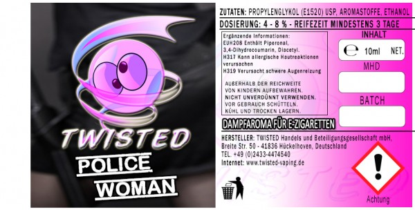 Twisted Aroma Police Woman 10ml