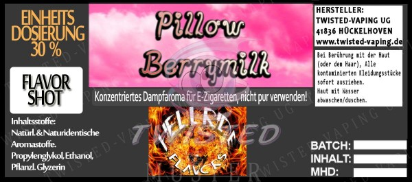 Hellride Aroma Pillow Berry Milk FlavorShot