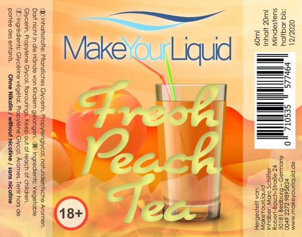 Make Your Liquid Fresh Peach Tea Shake ´n Vape 20ml