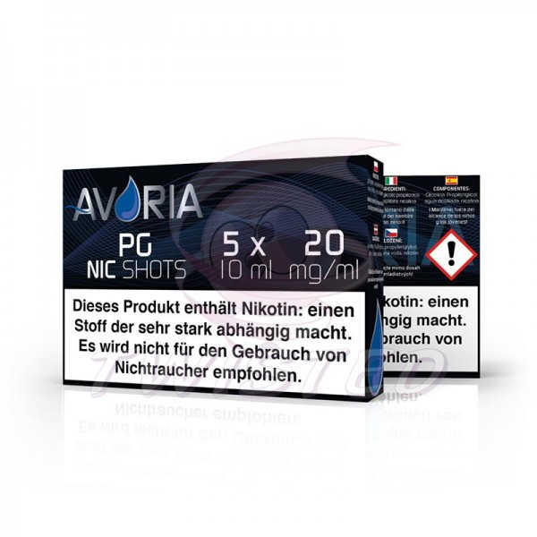 Avoria Nic-Shots PG 20mg/ml 5x10ml Bundle
