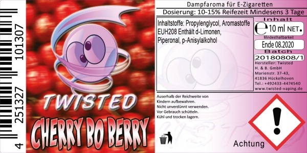 Twisted Aroma Cherry bo Berry 10ml