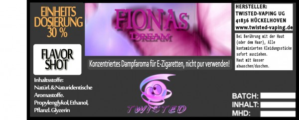 Twisted Aroma Fionas Dream FlavorShot 5ml