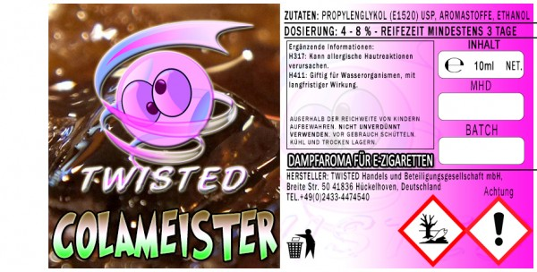 Twisted Aroma Colameister 10ml