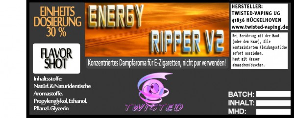 Twisted Aroma Energy Ripper V2 FlavorShot