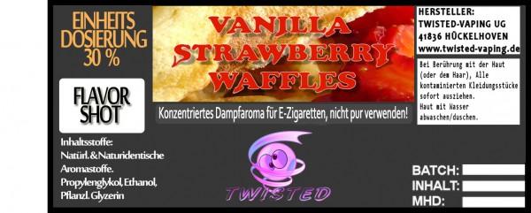 Twisted Aroma Vanilla Strawberry Waffles FlavorShot