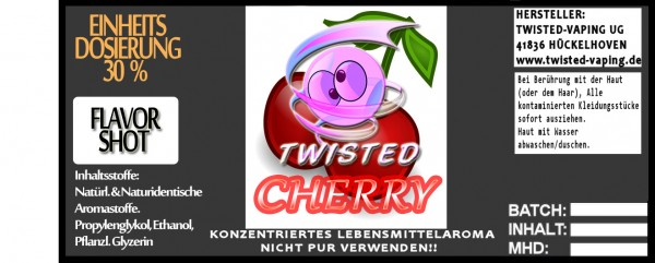Twisted Aroma Cherry FlavorShot 10ml