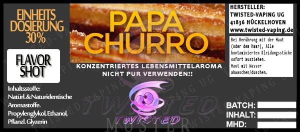 Twisted Aroma Papa Churro 10ml