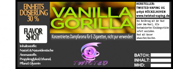 Twisted Aroma Vanilla Gorilla FlavorShot 5ml