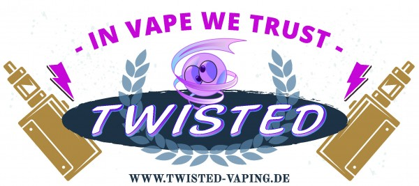 "Twisted Fan-Tasse ""In Vape we trust"" festes Bild"