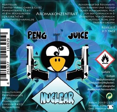 Peng Juice Nuclear Longfill Aroma 20ml 0mg