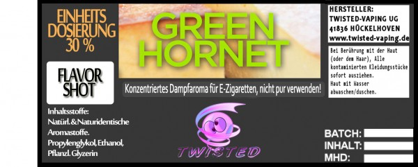 Twisted Aroma Green Hornet FlavorShot 5ml