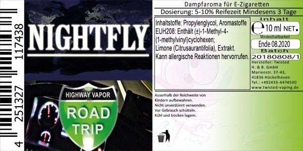 Road Trip Aroma Nightfly 10ml