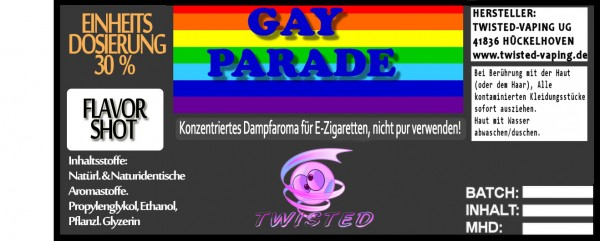 Twisted Aroma Gay Parade FlavorShot