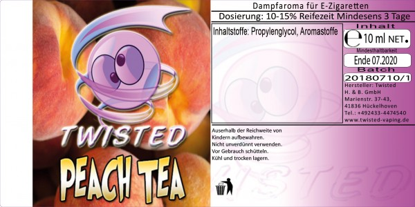 Twisted Aroma Peach Tea 10ml