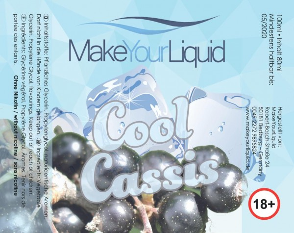 Make Your Liquid Cool Cassis Shake ´n Vape 80ml