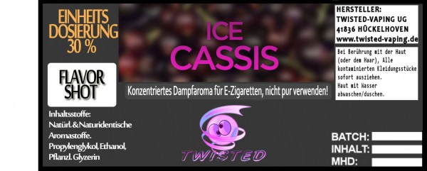 Twisted Aroma Ice Cassis FlavorShot 5ml