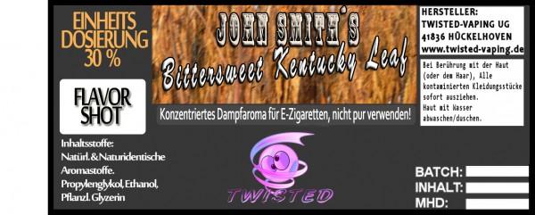 John Smith´s Blended Tobacco Flavor Bittersweet Kentucky Leaf FlavorShot