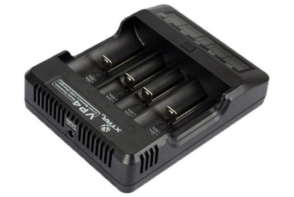 Xtar VP4 - Ladegerät für Li-Ion-Akkus inkl. KFZ-Adapter
