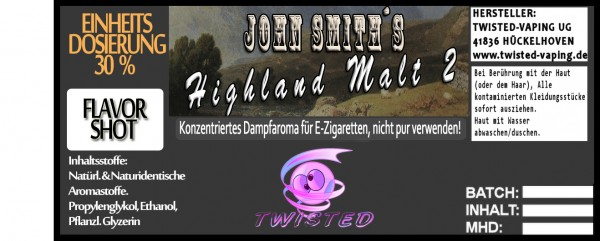 John Smith´s Blended Tobacco Flavor Highland Malt 2 FlavorShot 5ml