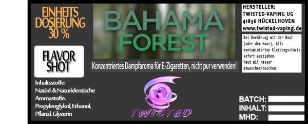 Twisted Aroma Bahama Forest FlavorShot
