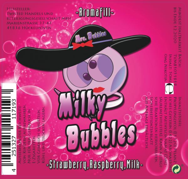 Mrs. Bubbles Milky Bubbles Longfill Aroma 20ml 0mg