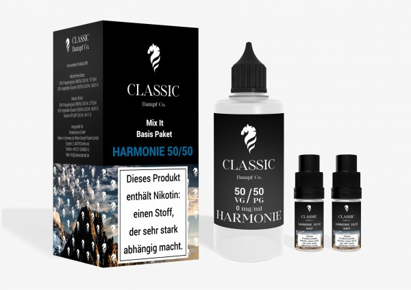 Classic Dampf Mix It Basis Paket 50/50 Harmonie 120ml 3mg/ml