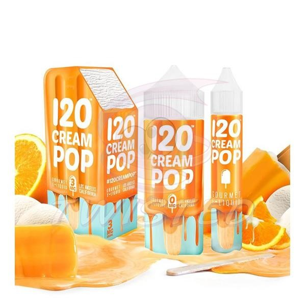 120 Cream Pop US Premium Liquid 100ml 0mg