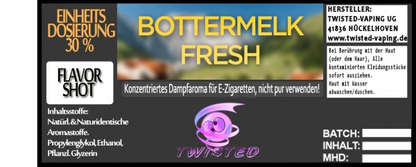 Twisted Aroma Bottermelk Fresh FlavorShot
