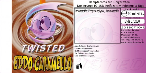 Twisted Aroma Eddo Caramello 10ml