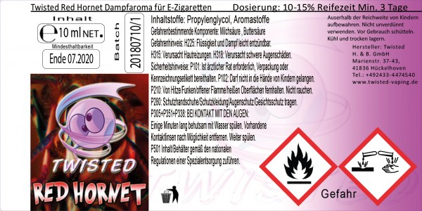 Twisted Aroma Red Hornet 10ml