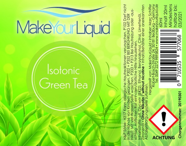 Make Your Liquid Isotonic Green Tea Shake ´n Vape 20ml