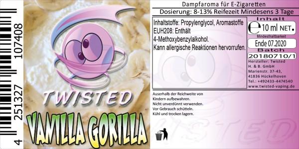 Twisted Aroma Vanilla Gorilla 10ml