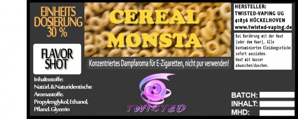 Twisted Aroma Cereal Monsta FlavorShot 10ml
