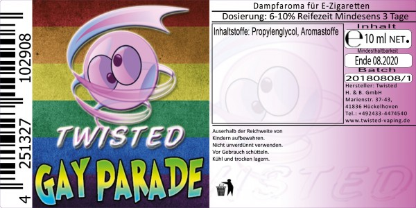 Twisted Aroma Gay Parade 10ml